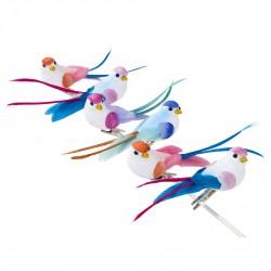 Les oiseaux décoratifs sur pince (par 6)
