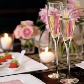 Les 2 flûtes à champagne tulipe argent