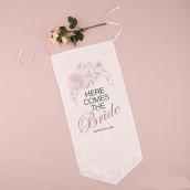 La bannière personnalisable floral