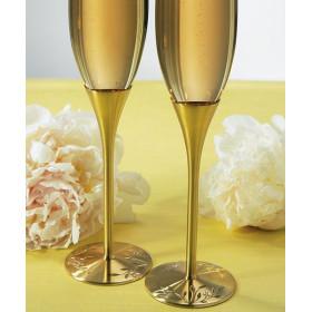 Les 2 flûtes à champagne Venise or