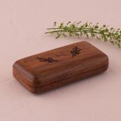 Le porte alliances bois personnalisé couronne champêtre