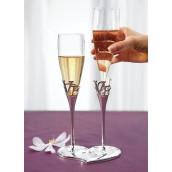Les 2 flûtes à champagne LOVE