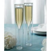 Les 2 flûtes à champagne contemporaines