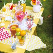 Le chemin de table chevron (5 coloris)