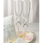 Les 2 flûtes à champagne diamant