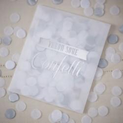 les 12 sachets confettis argent