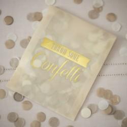 Les 10 sachets confettis dorés