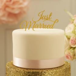 La figurine just married or pour gâteau