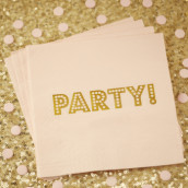 Les 20 serviettes rose party
