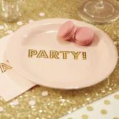 Les 8 assiettes rose party