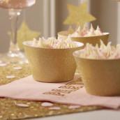 Les socles à cupcake glitter or