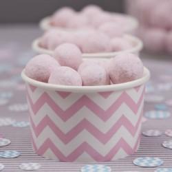 Les 8 pots à glace chevron rose