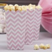 La boite à pop corn chevron rose (par 8)