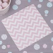 Les 20 serviettes chevron rose