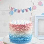La mini bannière pour gâteau baby shower