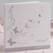 Le livre d'or oiseaux gris et blanc