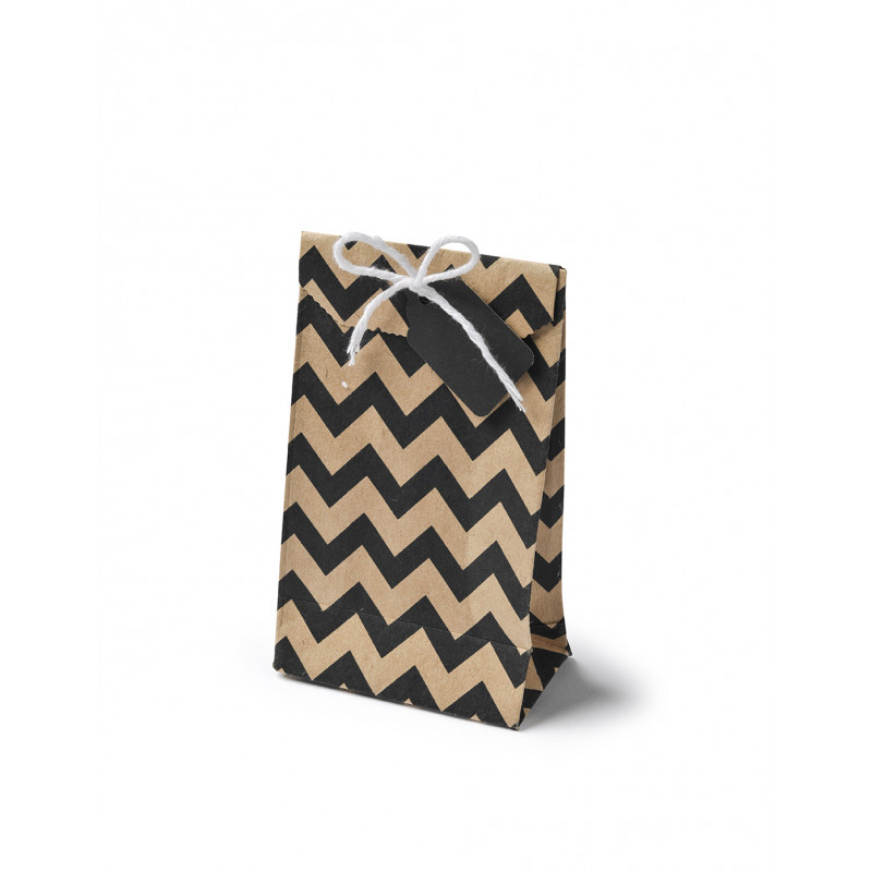 sachet papier kraft chevron. Black Bedroom Furniture Sets. Home Design Ideas