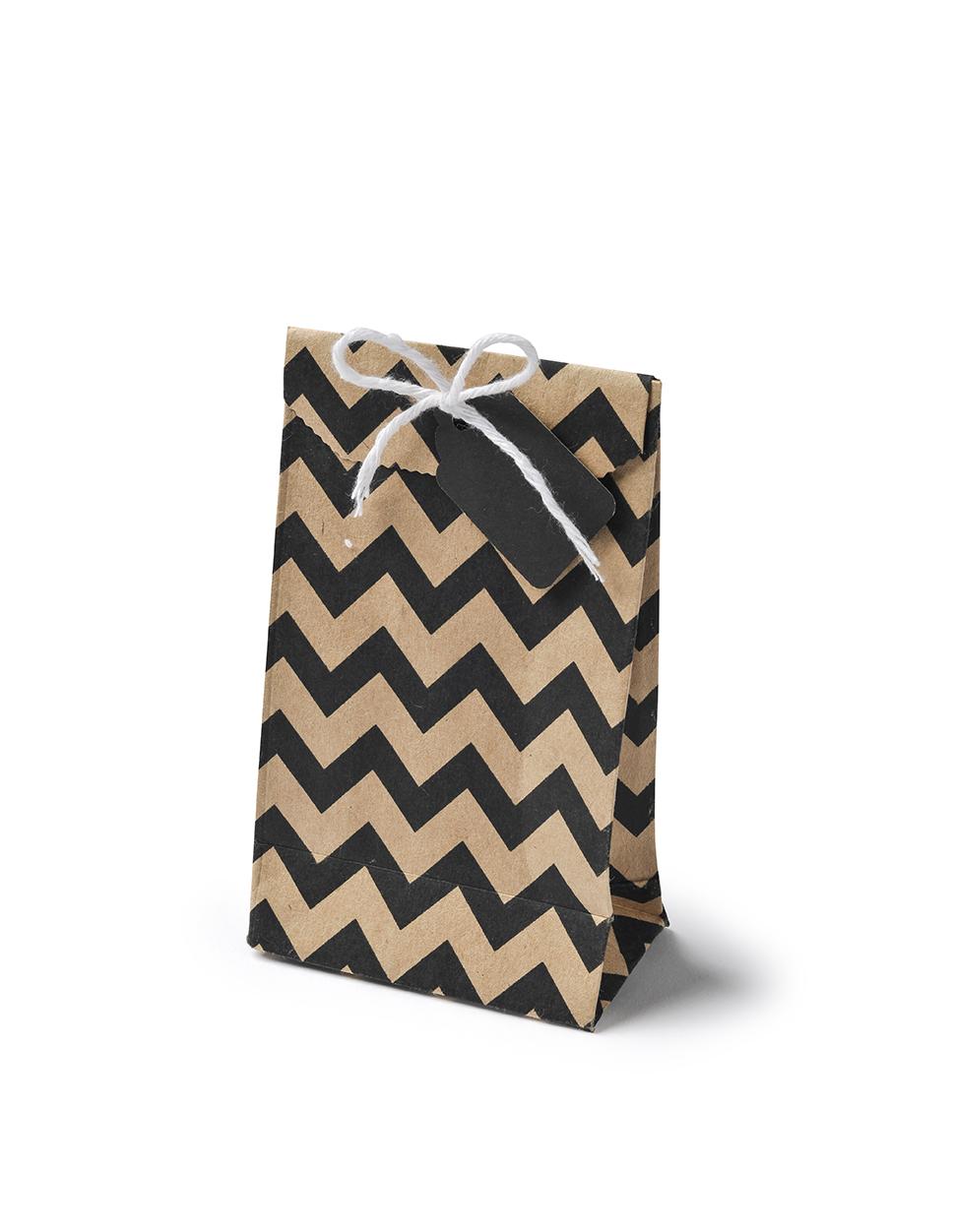 les 6 sacs en papier kraft chevron place du mariage. Black Bedroom Furniture Sets. Home Design Ideas
