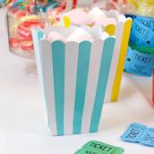 Les 5 cartons à pop corn à rayures (9 coloris)