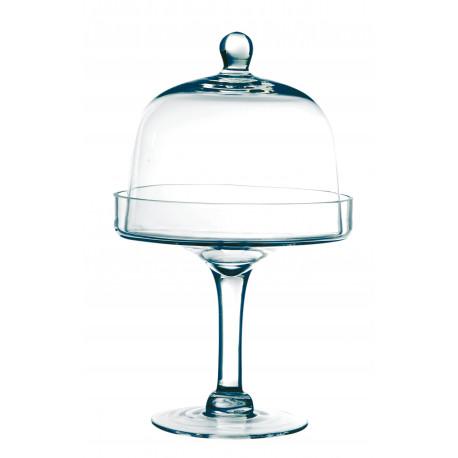 cloche en verre sur pied de 30cm. Black Bedroom Furniture Sets. Home Design Ideas