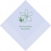 Les 100 serviettes personnalisées papillon 16,5cm