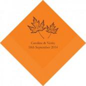 Les 100 serviettes personnalisées automne 16,5cm