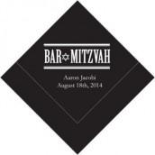 Les 100 serviettes personnalisées bar mitzvah 12,5cm