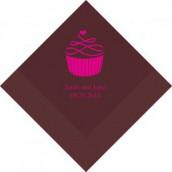 Les 100 serviettes personnalisées cupcake 12,5cm
