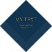 Les 50 serviettes personnalisées texte 12,5cm