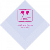 Les 100 serviettes personnalisées sweet 12,5cm