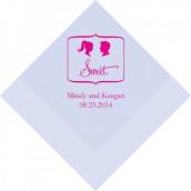 Les 50 serviettes personnalisées sweet 12,5cm