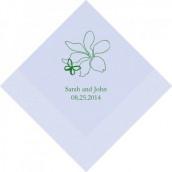 Les 100 serviettes personnalisées papillon 12,5cm