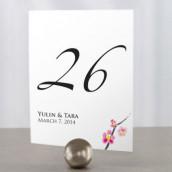 Les 12 numéros de table fleur de cerisier