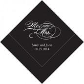 Les 100 serviettes personnalisées mr & mrs