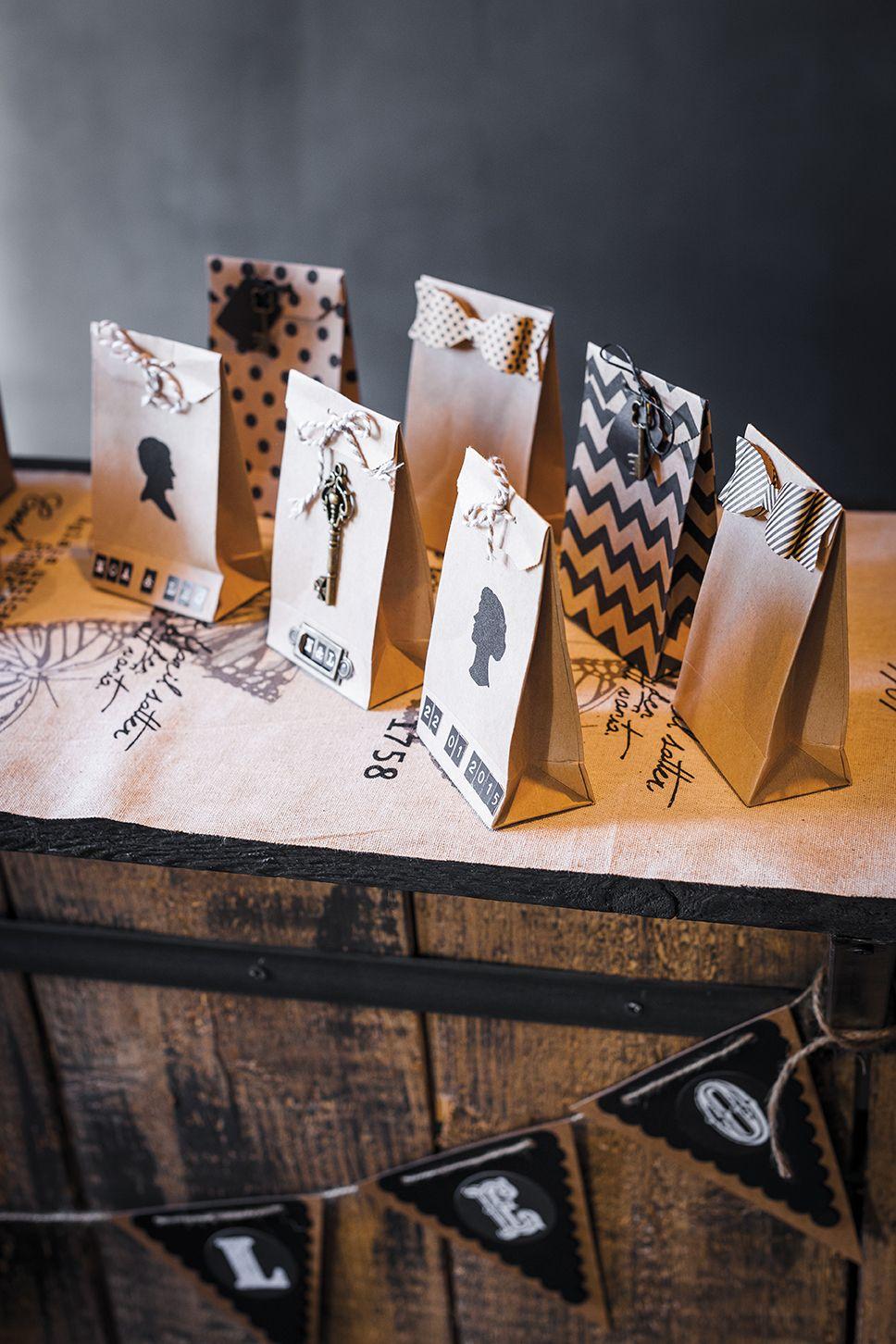 les 6 sacs en papier kraft place du mariage. Black Bedroom Furniture Sets. Home Design Ideas