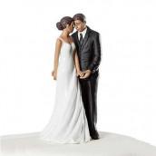 La figurine mariés complices couple noir