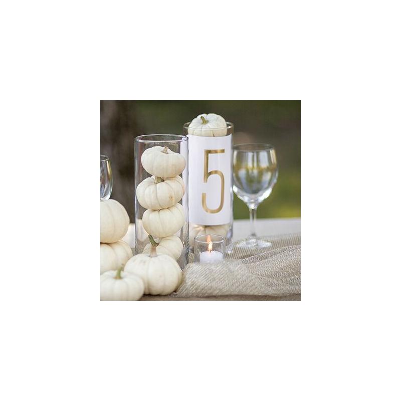 num ro de table mariage deco table or. Black Bedroom Furniture Sets. Home Design Ideas