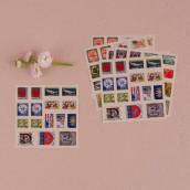 La planche de stickers timbre du monde