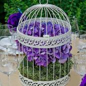 L'urne de mariage cage ronde ivoire