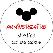 Les 24 stickers personnalisés mickey mouse