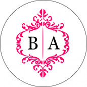 Les 24 stickers personnalisés monogramme