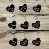 Les 10 étiquettes coeur noires