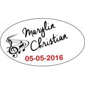 Les 24 stickers personnalisés musique