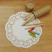 Les 18 napperons dentelle papier ronds