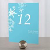 Les 12 numéros de table flocon