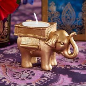 Le bougeoir éléphant doré