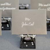 Les 6 marque-places machine à écrire