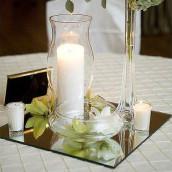 Le miroir de table carré 10, 20, 25 et 30cm
