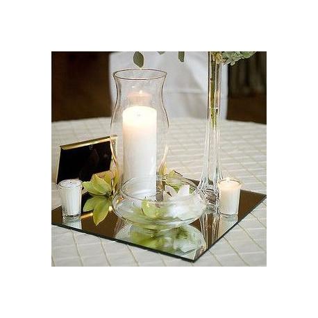 miroir carre pour centre de table. Black Bedroom Furniture Sets. Home Design Ideas