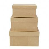 Les 3 boîtes carrées empilées